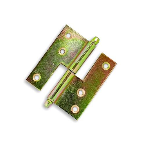 Dobradiça Hamburguesa 8 cm - Bicromatizado - Embalagem Padrão