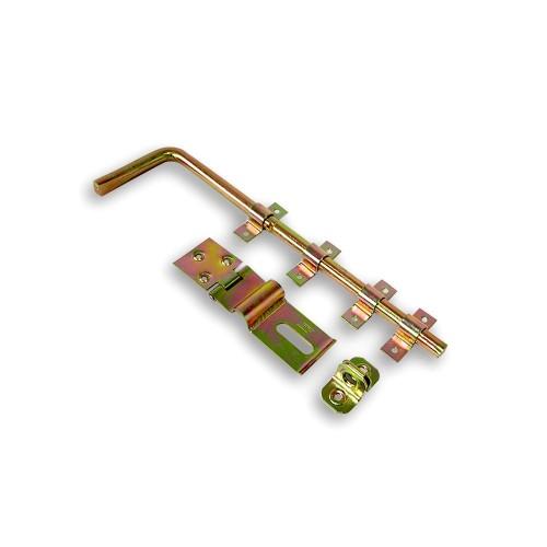 Ferrolho Fio Redondo para Portão com Porta Cadeado 40 cm - Bicromatizado - Embalagem Padrão