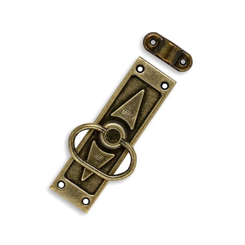 Cremona Retangular para Janela - Ferro Ouro Velho - Cartela Blister