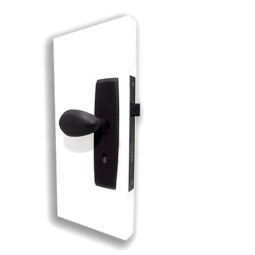 Fechadura Interna com Maçaneta Taco de Golfe 31 e Espelho Plus - Preto
