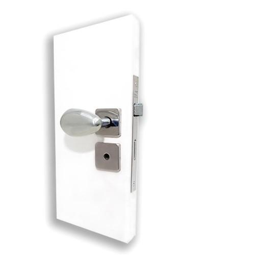 Fechadura Banheiro com Maçaneta Taco de Golfe 31 e Roseta Plus - Inox