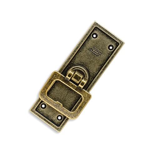 Cremona de Embutir para Janela - Ferro Ouro Velho - Embalagem Padrão