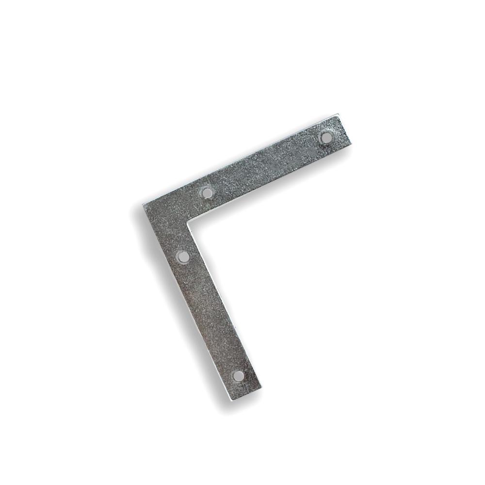Esquadro para Esquadria 8 cm - Zincado - Embalagem Padrão