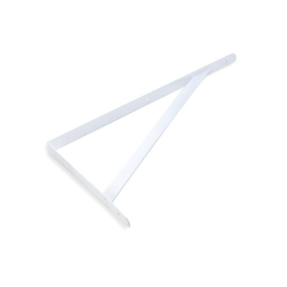 Cantoneira para Prateleira com Reforço 20 cm - Leve Pintado Epoxi Branco - Embalagem Padrão